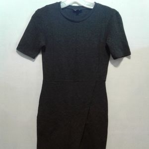 Topshop gray short  sleeve dress.
